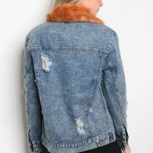 Jackets & Coats - DISTRESSED DENIM JACKET